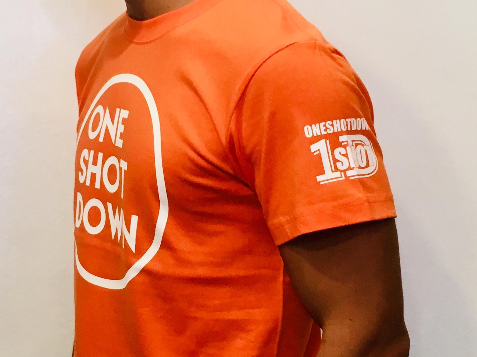 ONESHOTDOWN サークルロゴTシャツ(カラー) - 画像5