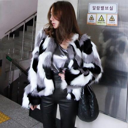 【アウター】配色ファッションスリム合わせやすいコート14949588