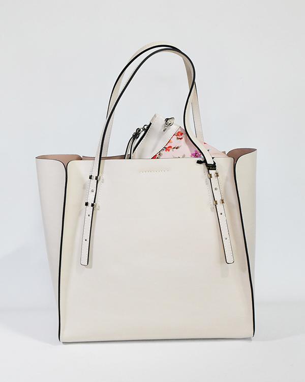 GIANNICHIARINI 5645LSRBSTNYL牛革スムース+花柄ポーチトートバッグ