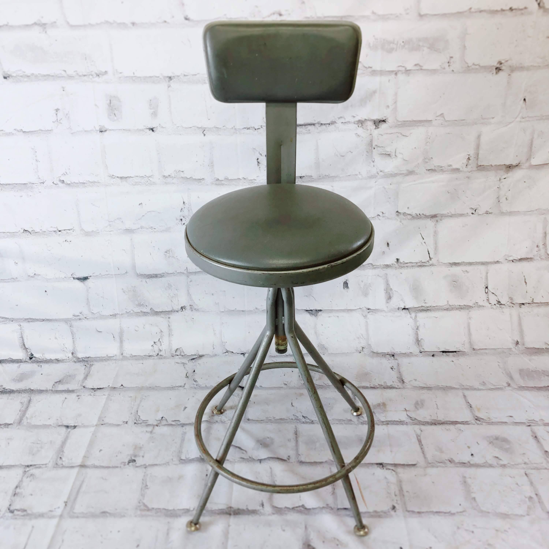 品番5070 インダストリアル ハイチェア 椅子 スツール スチール製 インテリア アンティーク