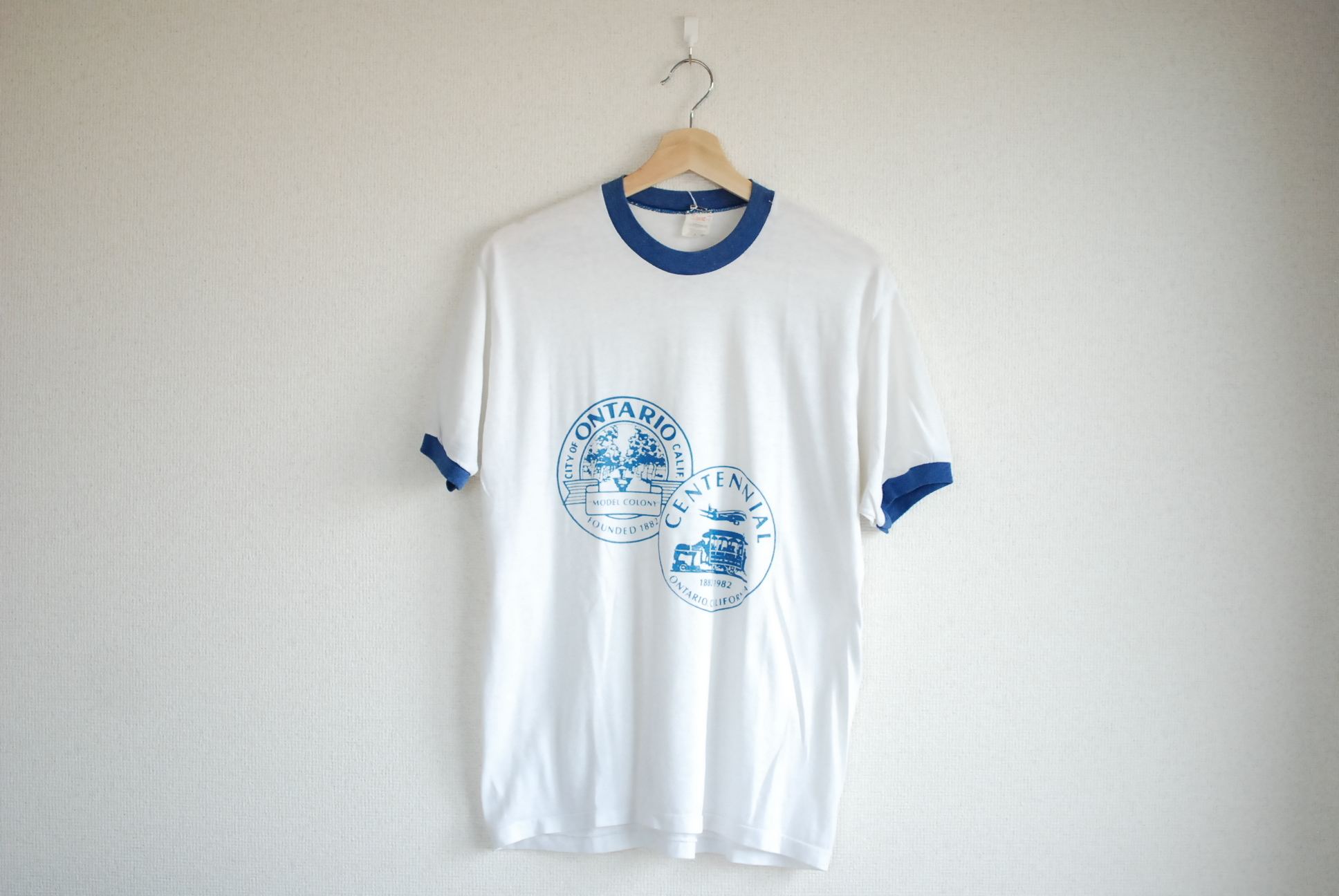 【UNISEX】VINTAGE ONTARIO City Ringer T-shirt