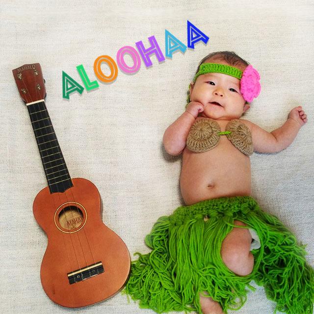 BABY 衣装 Hula Girl 出産祝い 女の子 フラガール コスチューム コスプレ 衣装 フラダンス