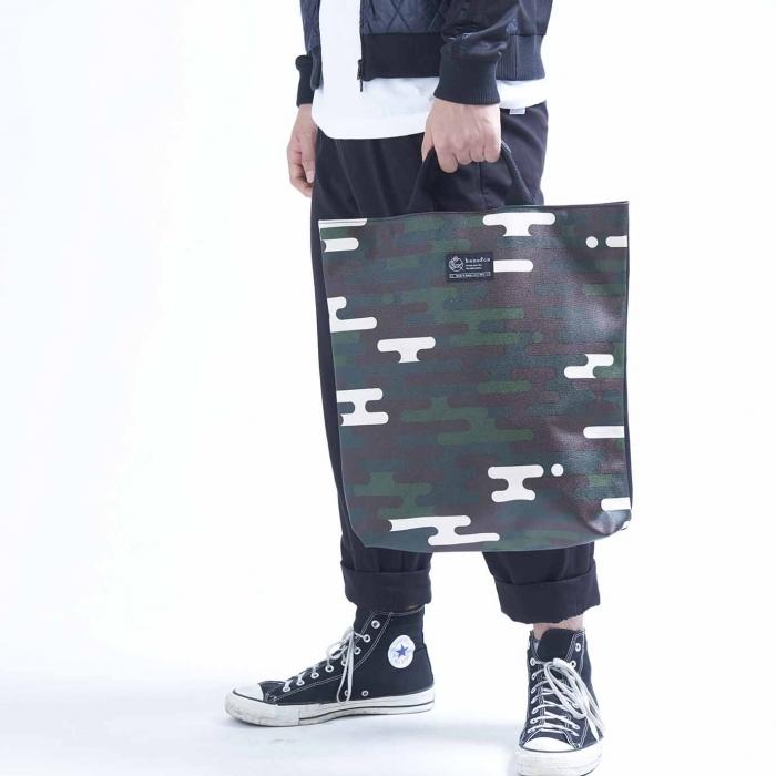 2way shopper / black x kumofulage 2ウェイショッパー / クモフラージュ