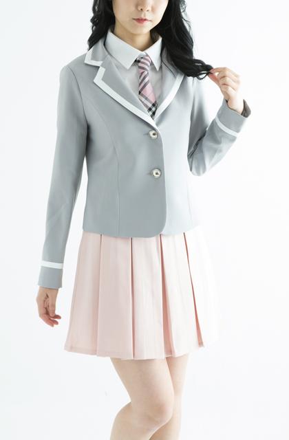 【レンタル3泊4日】アイドル制服セット【グレージャケット+スカート+ネクタイサービス】
