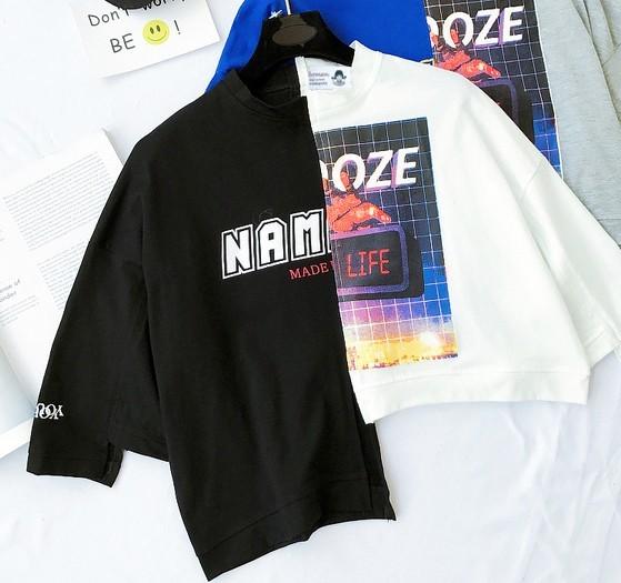 bf0dec7433ef9 韓国ファッション レディース 半袖 Tシャツ ストリート系 アシンメトリー トップス 個性的 原宿系 夏 tb-201