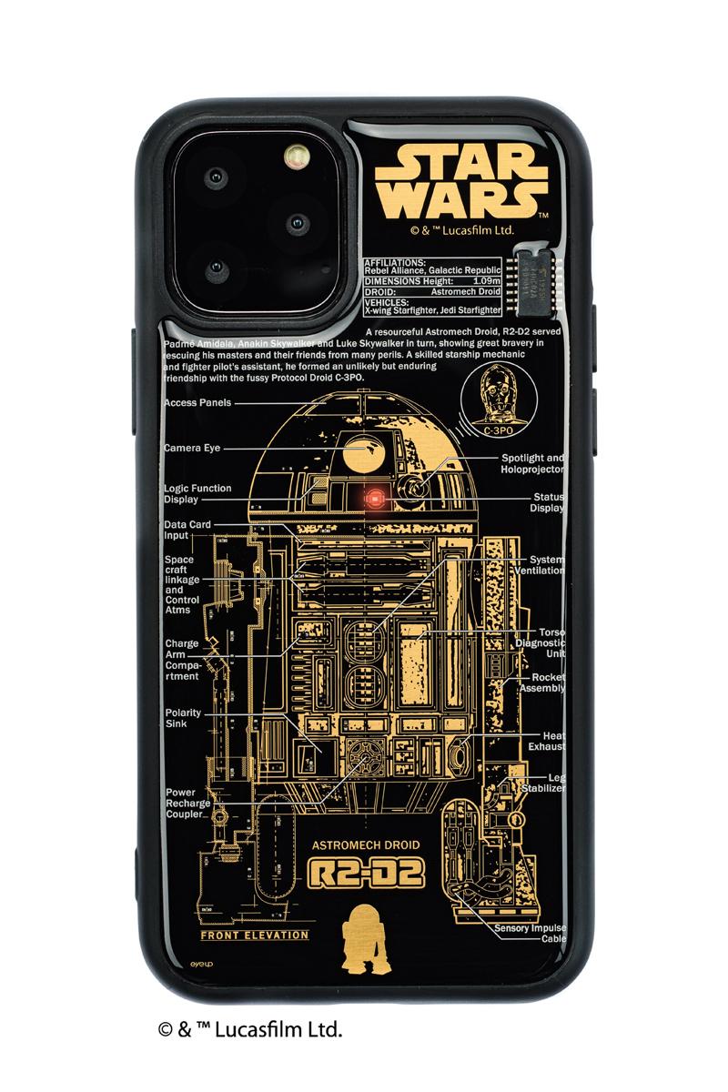 FLASH R2-D2 基板アート iPhone 11 Pro ケース  黒【東京回路線図A5クリアファイルをプレゼント】
