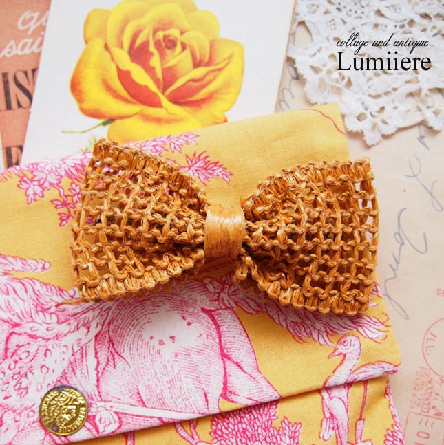 paris ribbon barrette