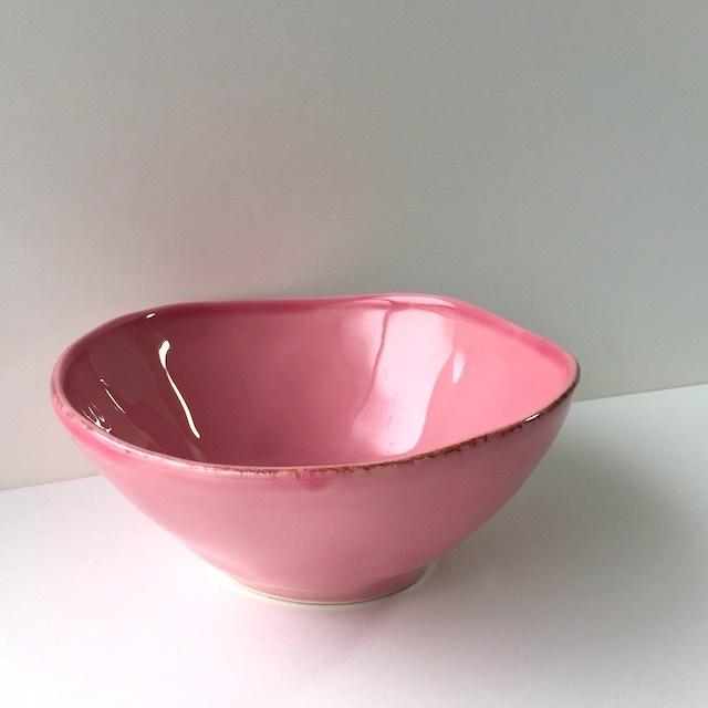 デンマーク rice 陶器 シリアルボウル L・ピンク