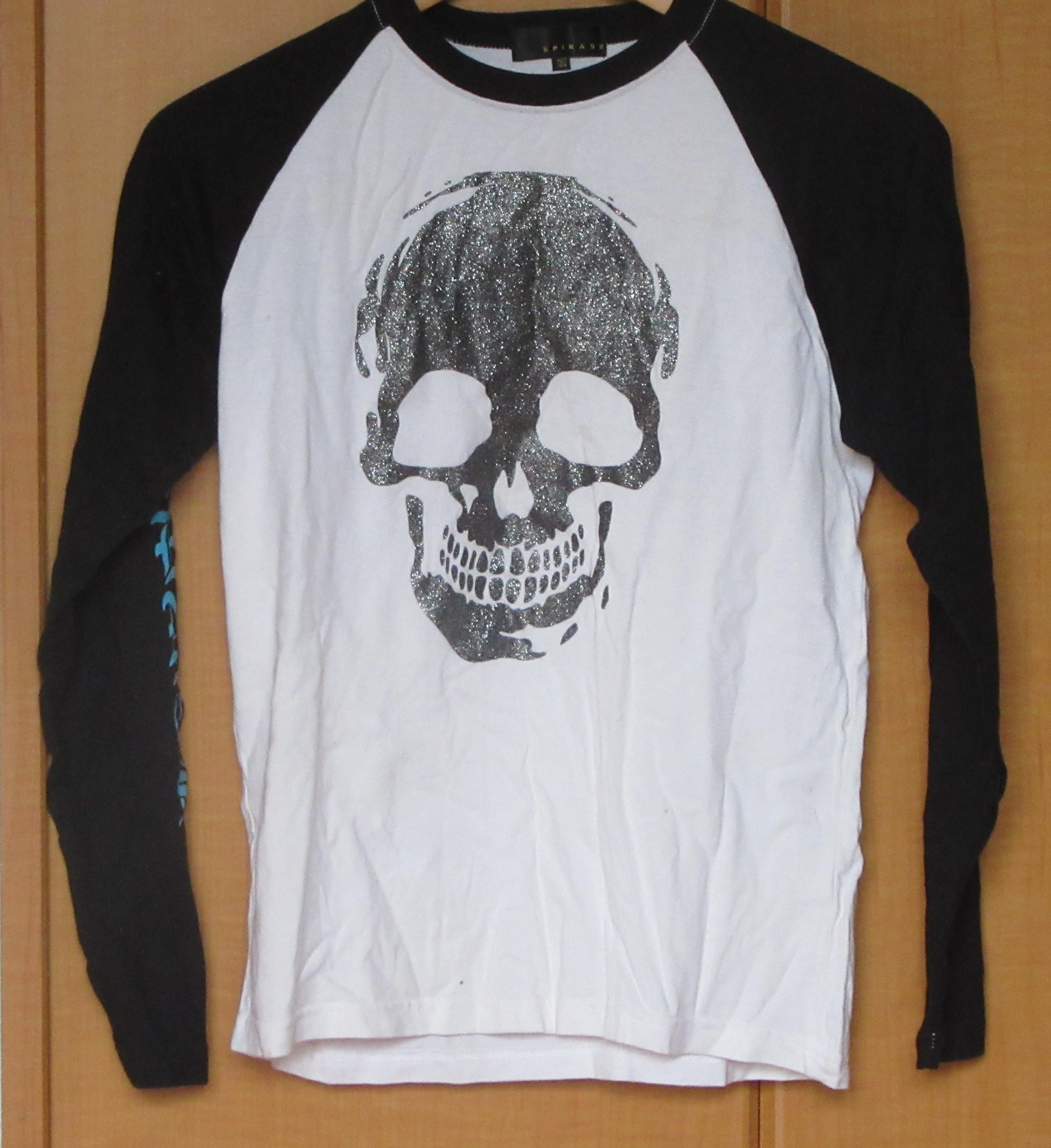 Tシャツ 長袖 Sサイズ ドクロマーク リセール商品