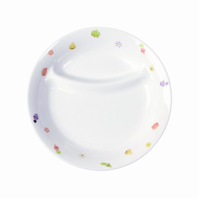 【1934-1230】強化磁器 17.1cm 仕切皿 ぷちやさい