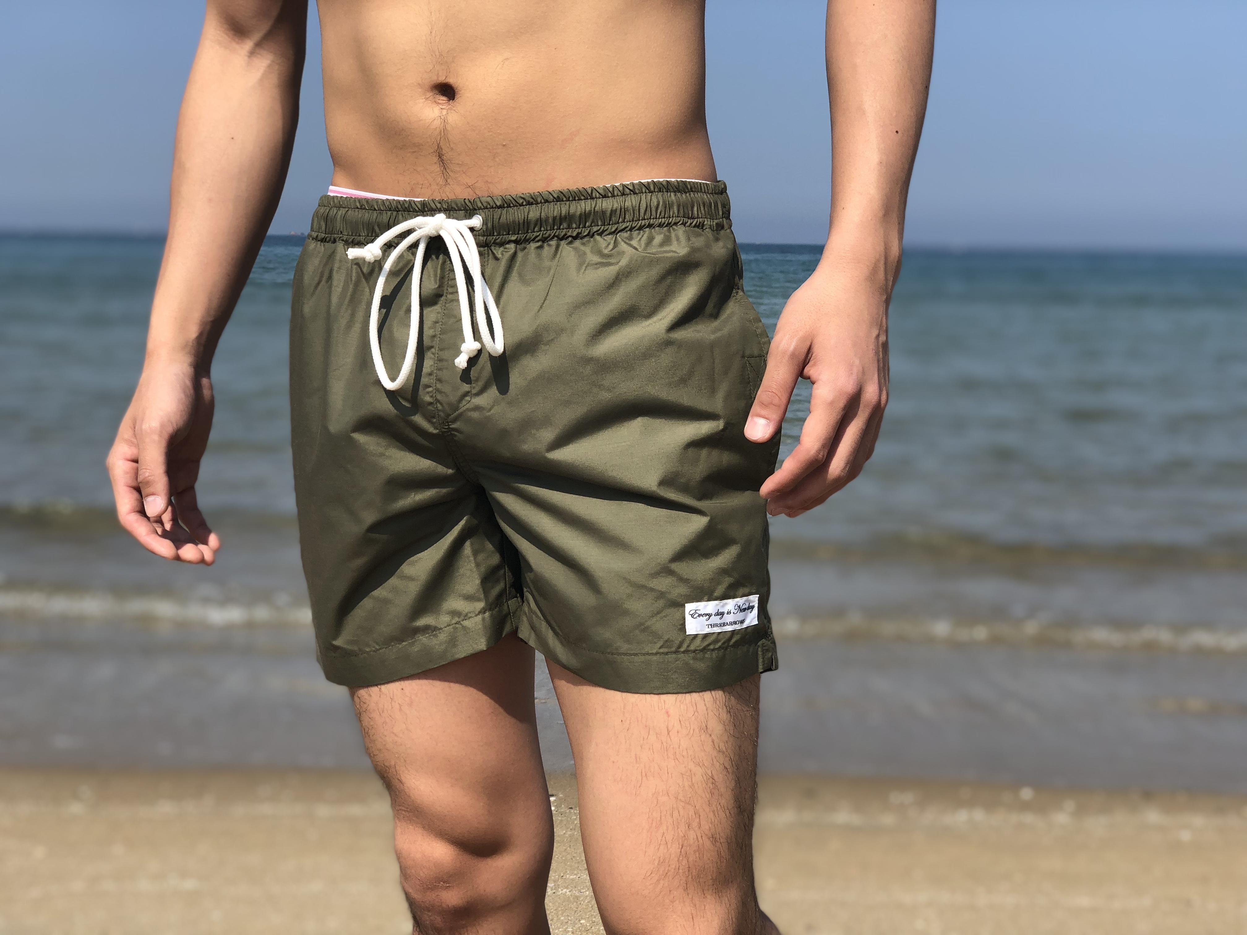 【5/15 21:00販売開始】THREEARROWS Board Shorts(khaki)