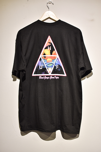 HUF(ハフ) | TRIPLE TRIANGLE TEE (Black)