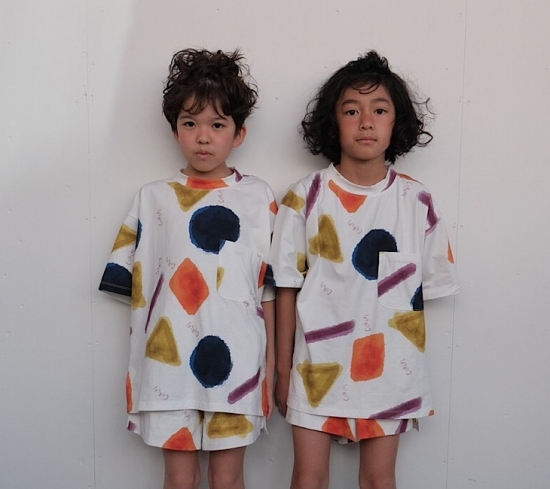 arkakama アルカカマ COTTON SPDX WIDE Tee PARTYPARTY size:S(2-3Y)~L(6-7Y)