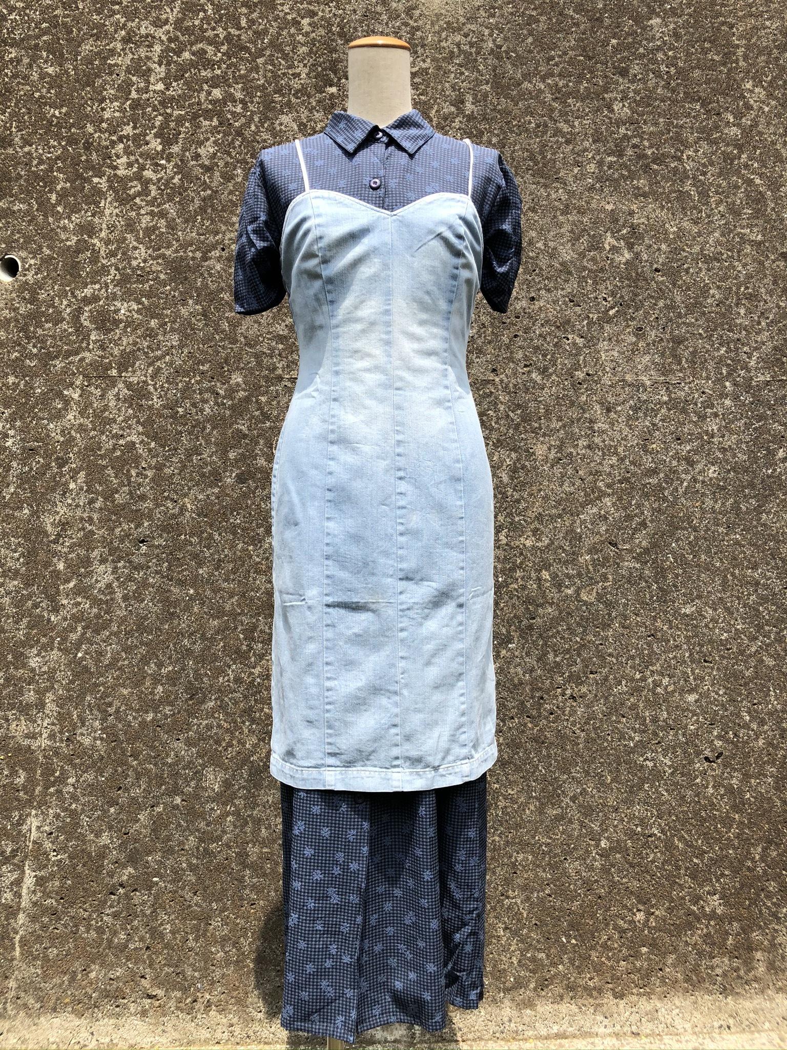 denim camisole dress