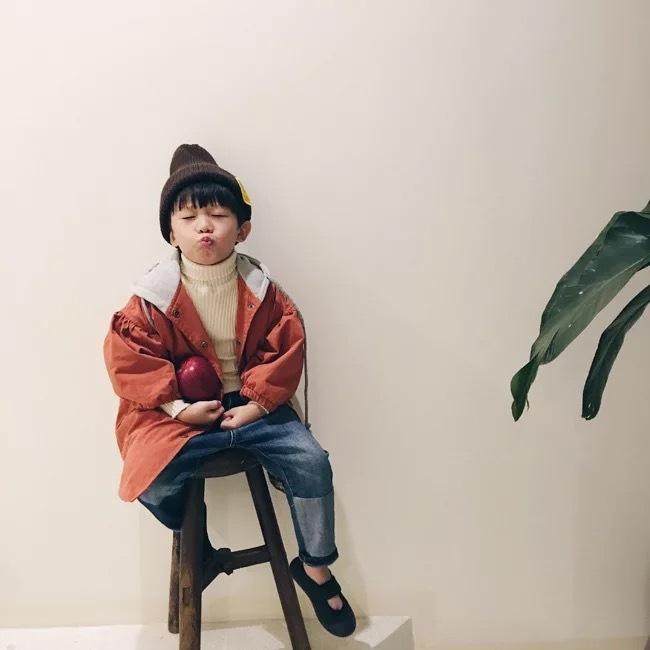 フードモッズコート オレンジ【748】