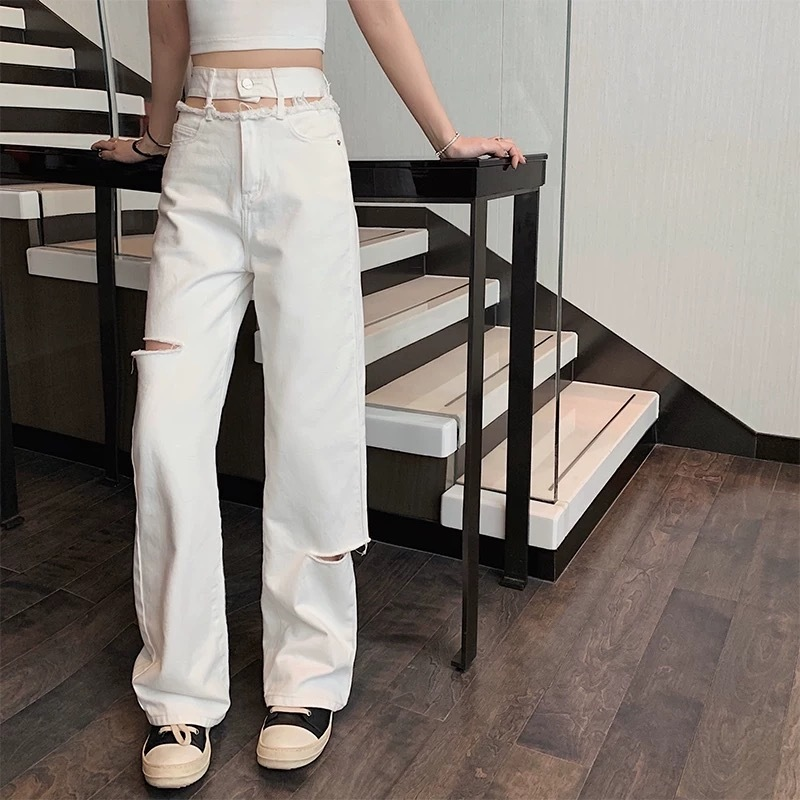 waist cut design pants