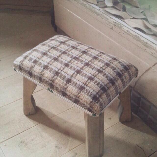 wood market 背の低い椅子 長方形