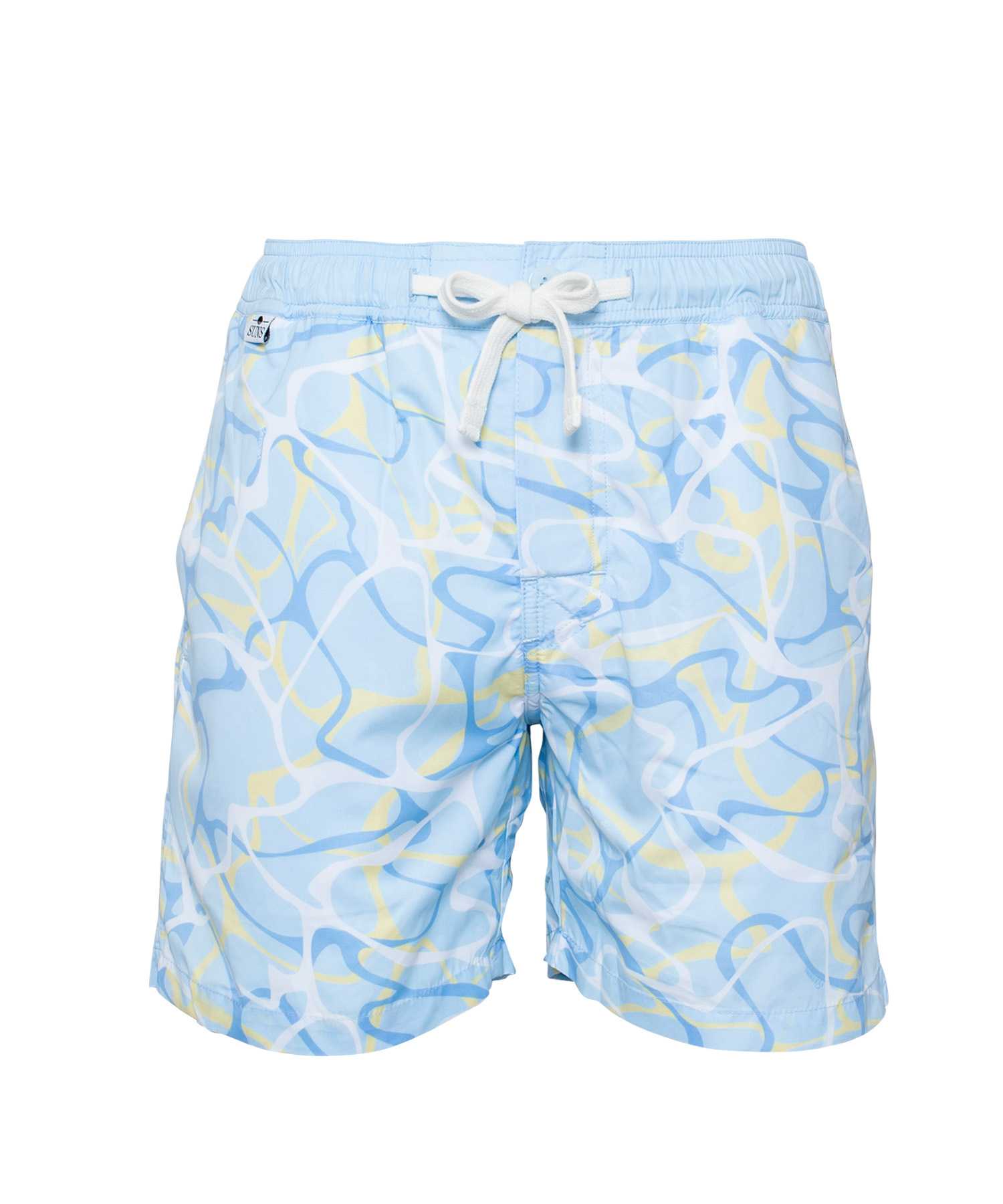 SUNS WATER SURFACE PATTERN PRINT SWIM SHORTS[RSW010]