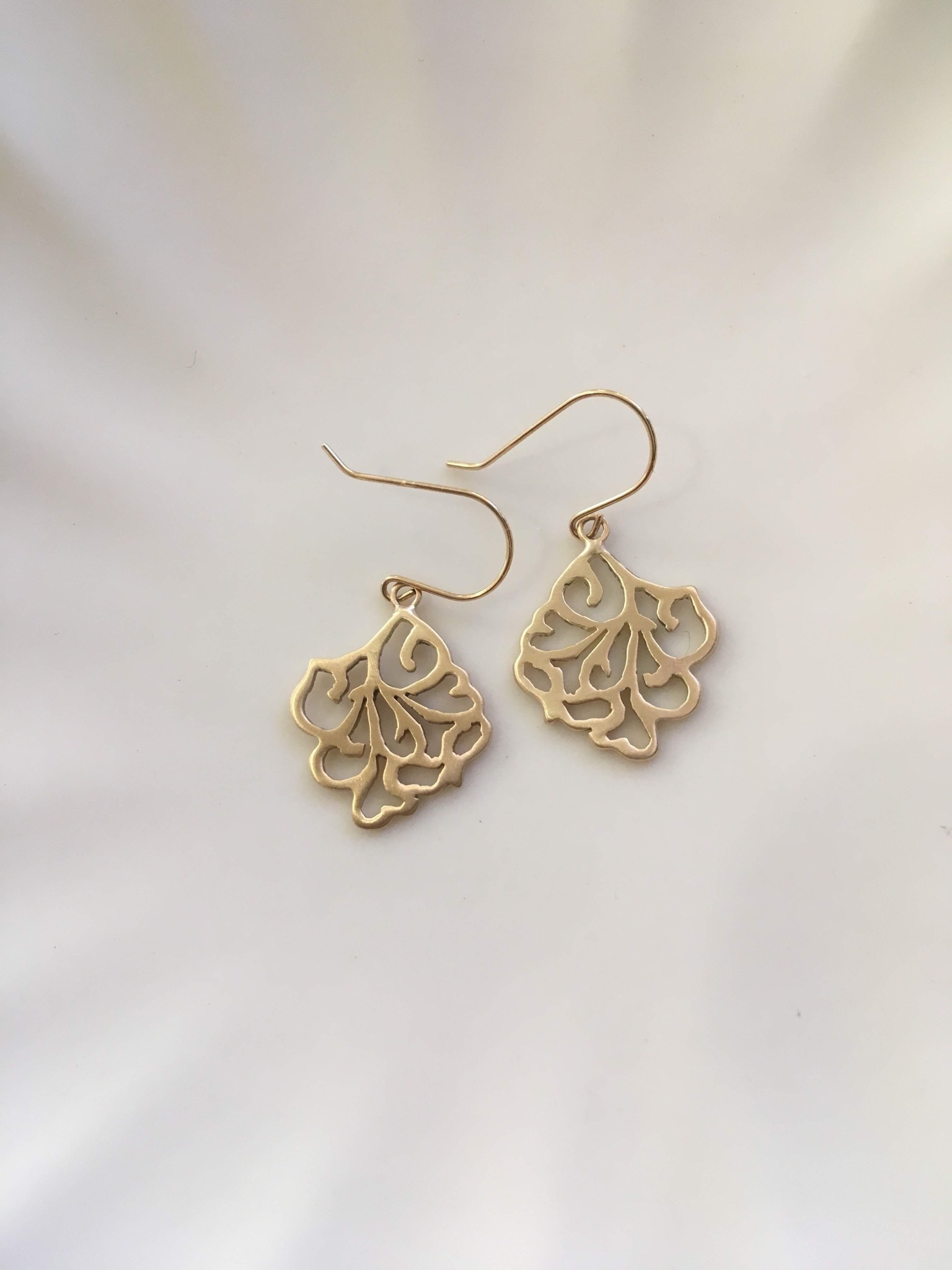 K18 Arabesque Design Earrings square 18金アラベスクデザインピアス(イヤリング)スクエアー