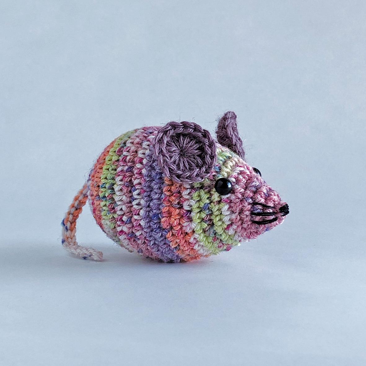 <編み図> かぎ針編み・ネズミのあみぐるみ
