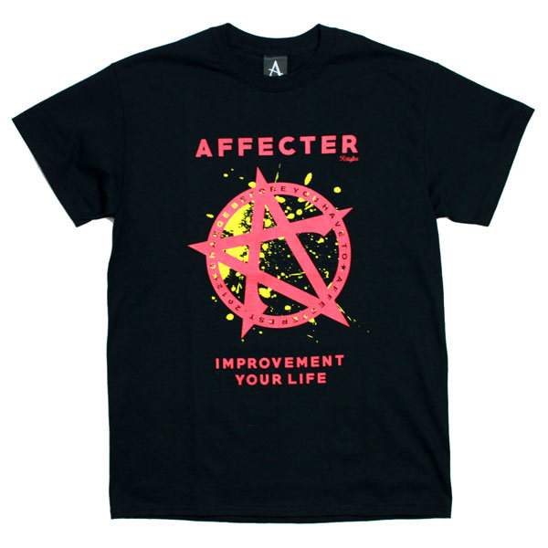 AFFECTER(アフェクター) | STAND S/S Tee (Black/Red)