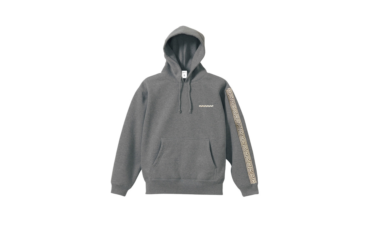coguchi Clogo long line hoodie (GRY)