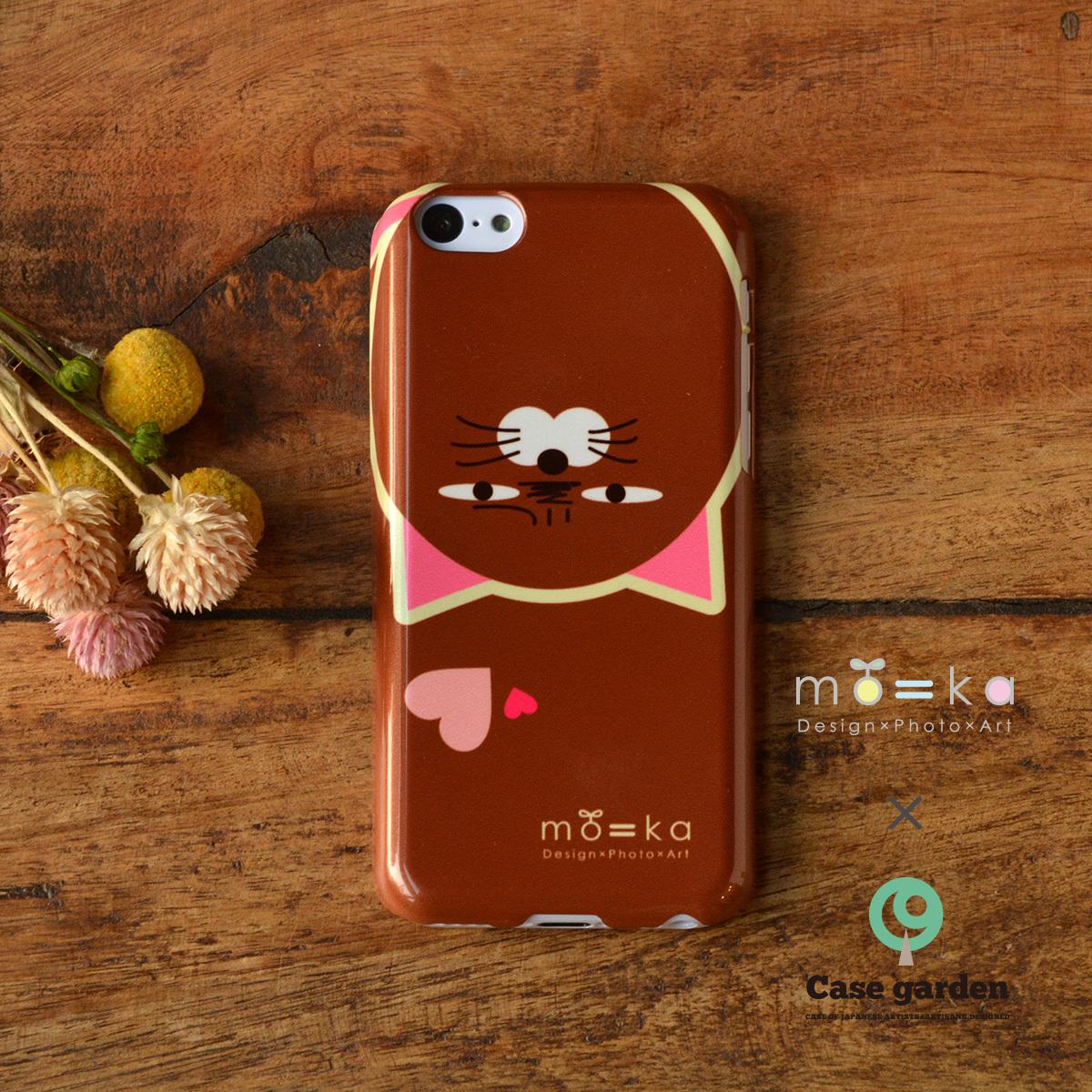 【限定色】アイフォン5c ケース 猫 iphone5c ケース ねこ iphone5c 猫 ケース iphoneケース 猫 おしゃれ キラキラ もやしねこ(ハート)/mo=ka×ケースガーデン