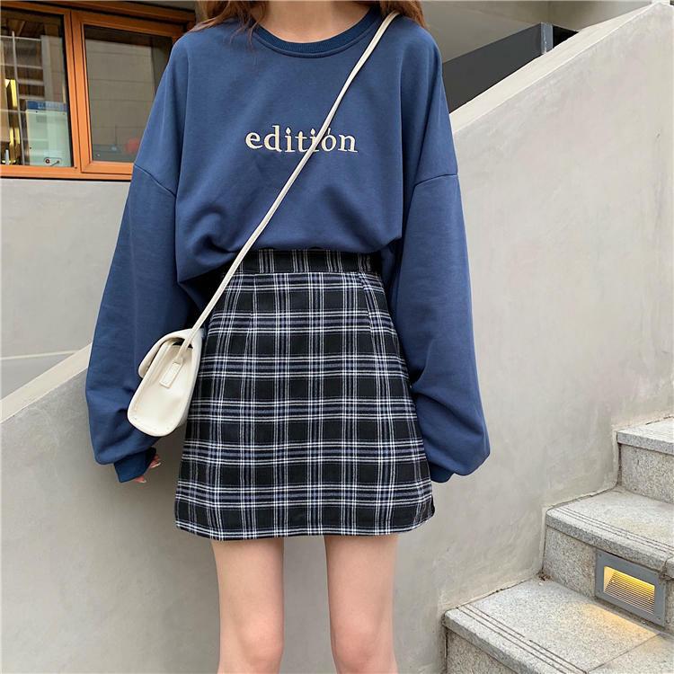 【送料無料】 秋旬スカート♡ タータンチェック ミニ スカート 台形 ハイウエスト 上品 スタイル