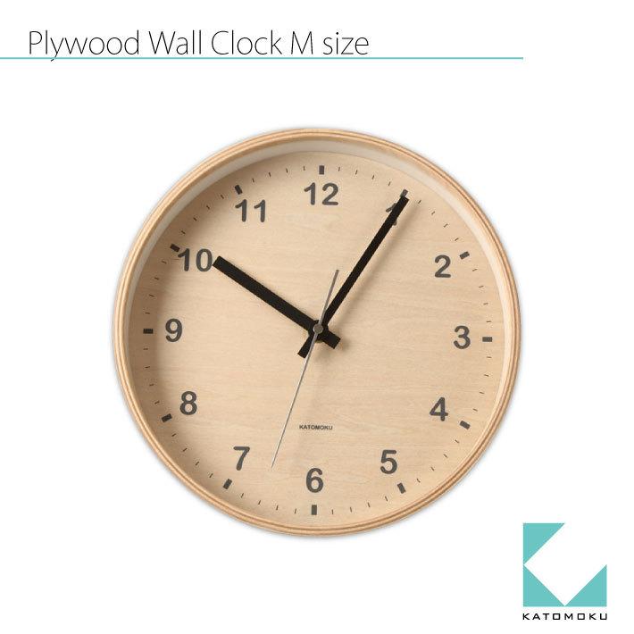 KATOMOKU plywood clock km-34M