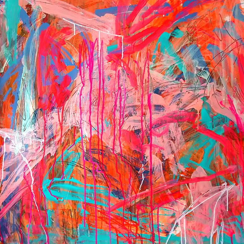 絵画 インテリア アートパネル 雑貨 壁掛け 置物 おしゃれ 抽象画 現代アート ロココロ 画家 : tamajapan 作品 : t-10