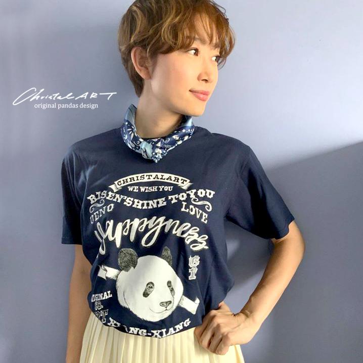 Tシャツ単体(ネイビー地)◆レタリングシャンシャン柄