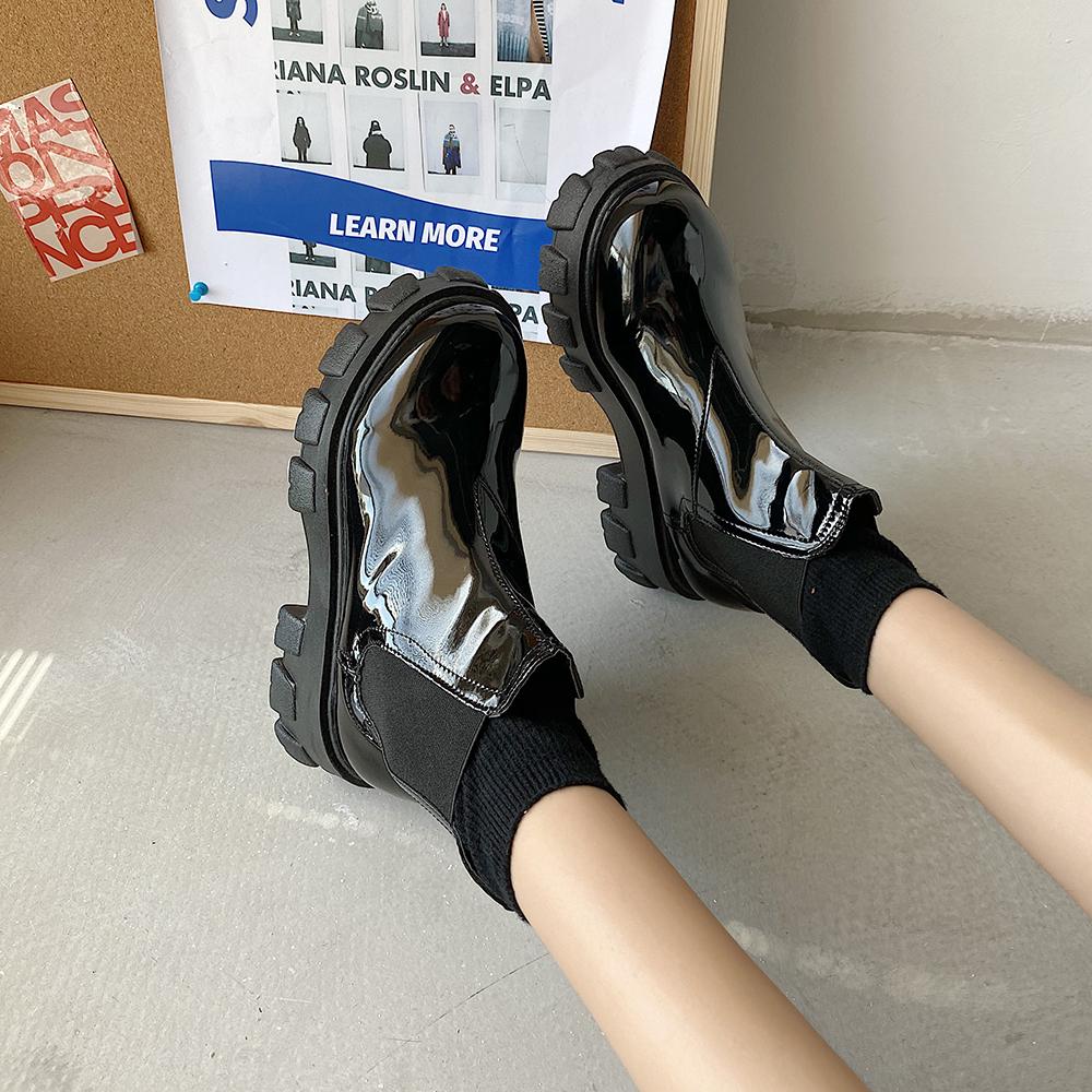 〈リクエストアイテム〉レトロシンプル厚底ブーツ【rétro simple high heel boots】