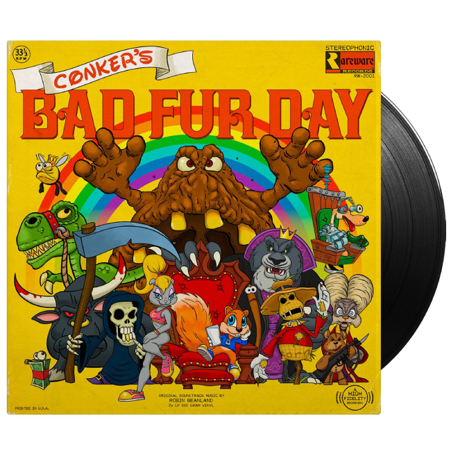 Conker's Bad Fur Day / コンカーズ・バッド・ファー・デイ(オリジナル・サウンドトラック)2LP - 画像1