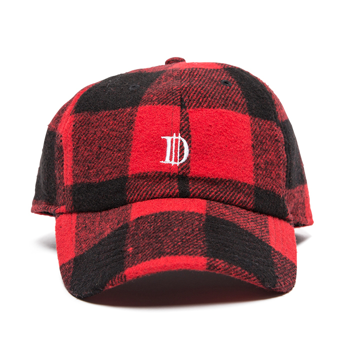 【Deviluse | デビルユース】 Check D Cap(Black×Red)