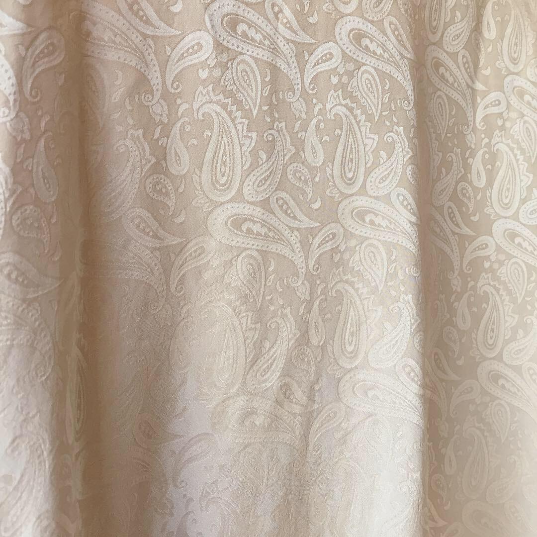 vintage silk paisley tops
