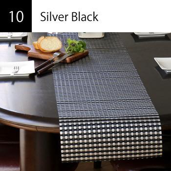 テーブルランナー Silver Black
