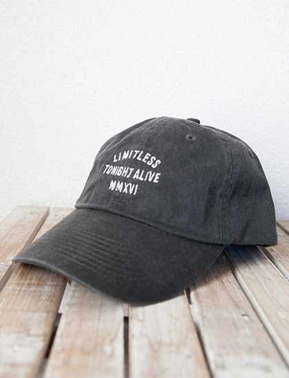 【TONIGHT ALIVE】Limitless Dad Hat (Washed Black)