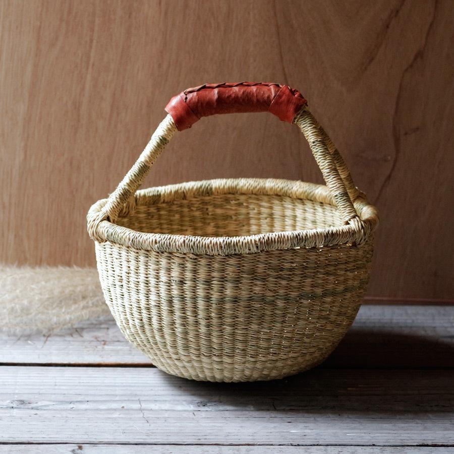 ガーナの手編み ボルガバスケット / 小 A