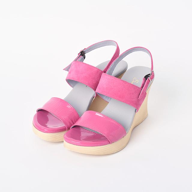 ウェッジサンダルSunny Fuchsia Pink