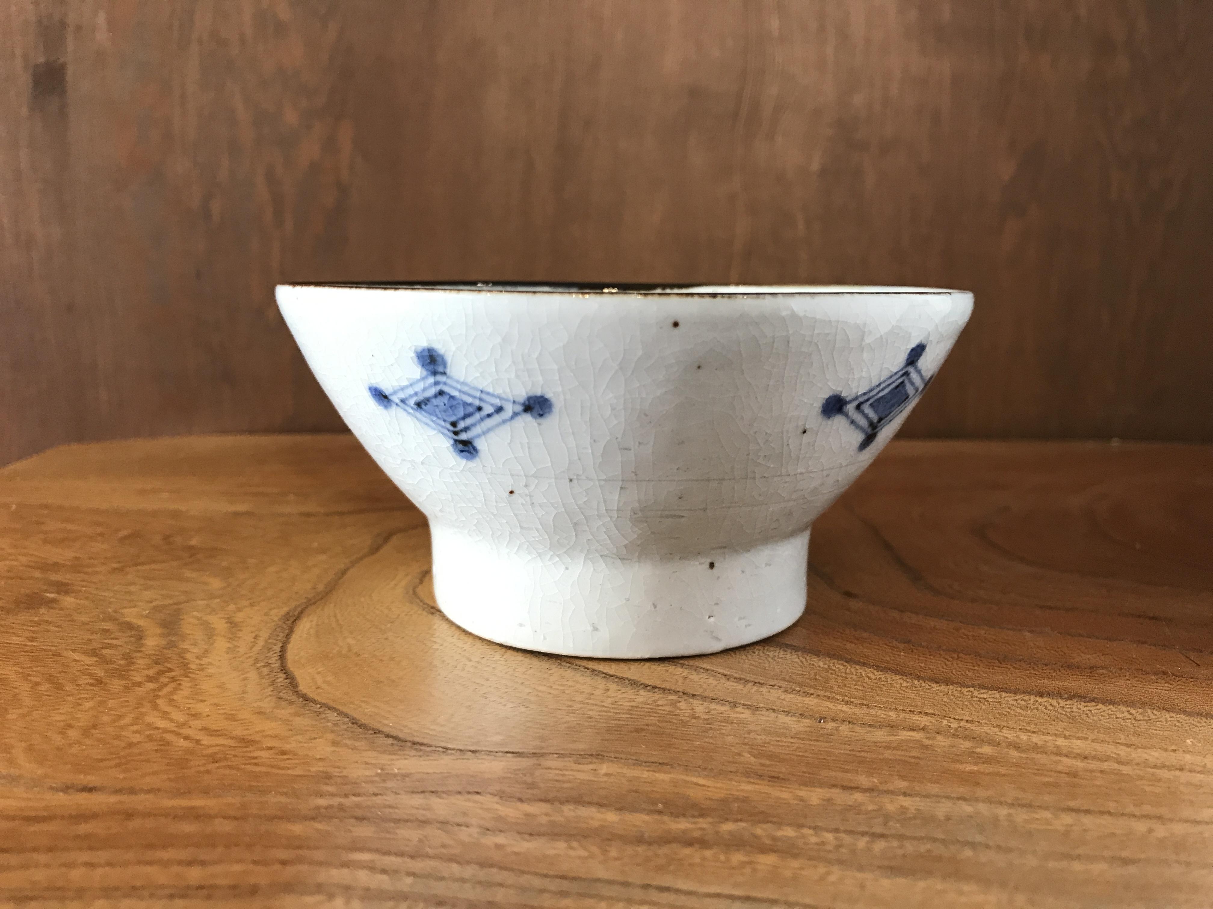 砥部焼  陶彩窯 染付古砥部文の茶碗
