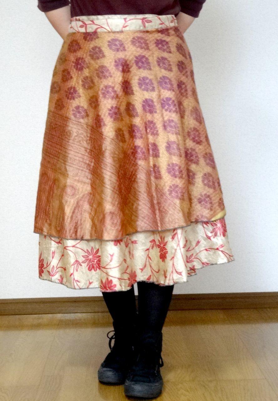 dss-013 シルクサリー巻きスカートショート
