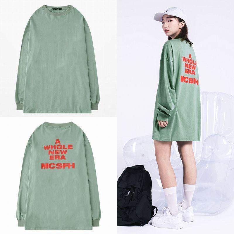 ユニセックス 長袖 Tシャツ メンズ レディース シンプル 英字 バックプリント オーバーサイズ 大きいサイズ ストリート