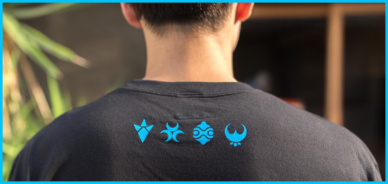 ゼルダの伝説 ブレスオブザワイルド /英傑カレッジTシャツ (ブラック)/THE KING OF GAMES
