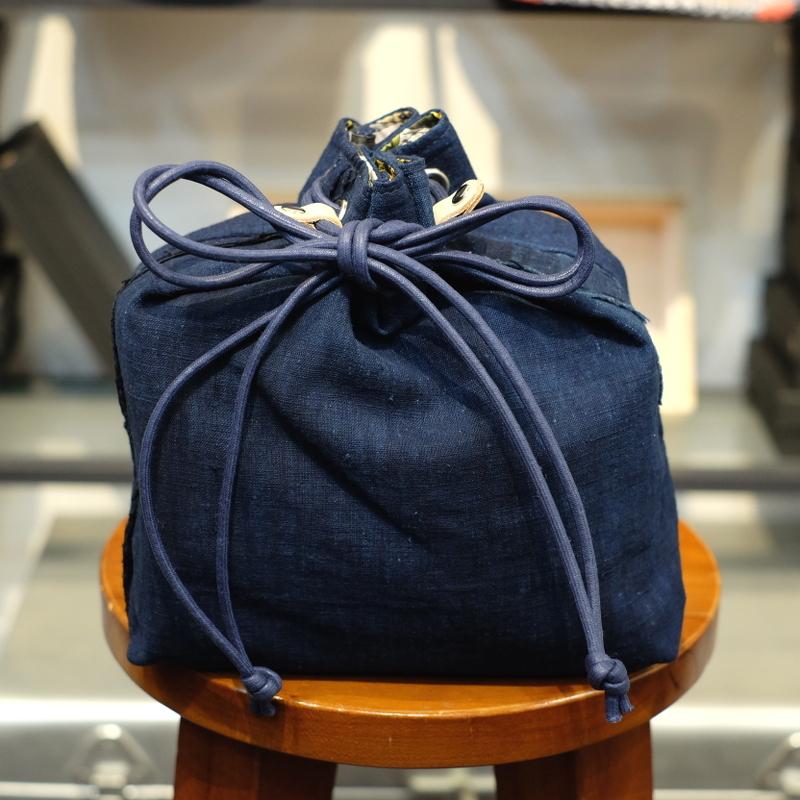 KUON(クオン) 襤褸・エルメスヴィンテージスカーフ 信玄袋(巾着袋) その2