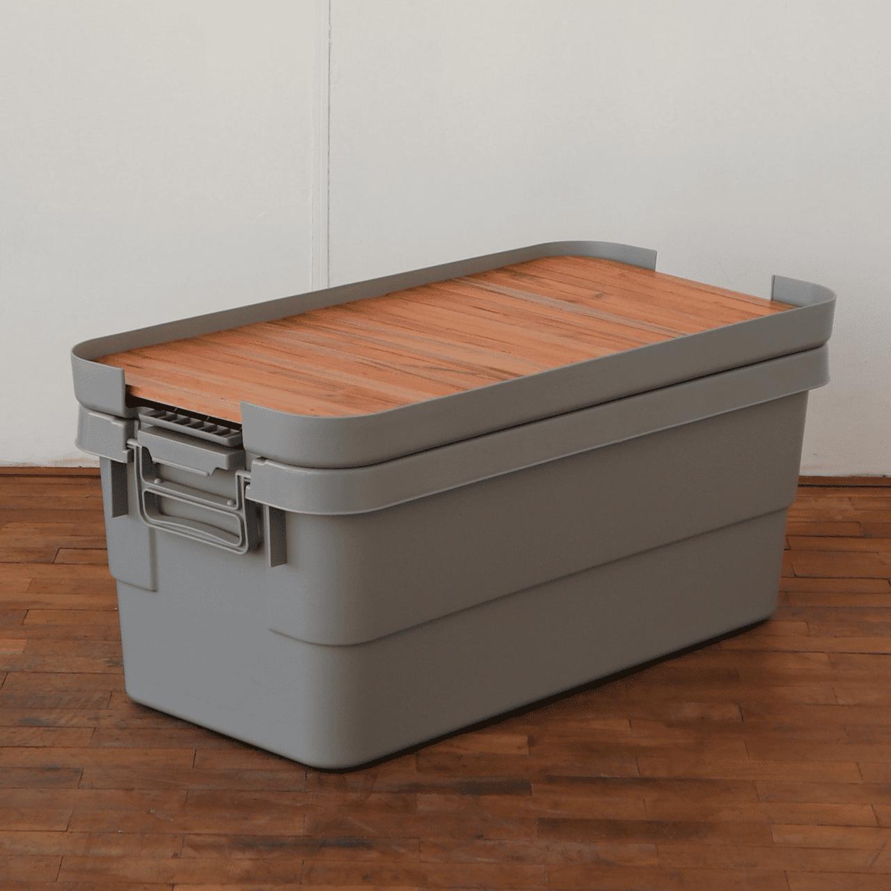 プラスチック収納BOX専用ウッドテーブル(30L)