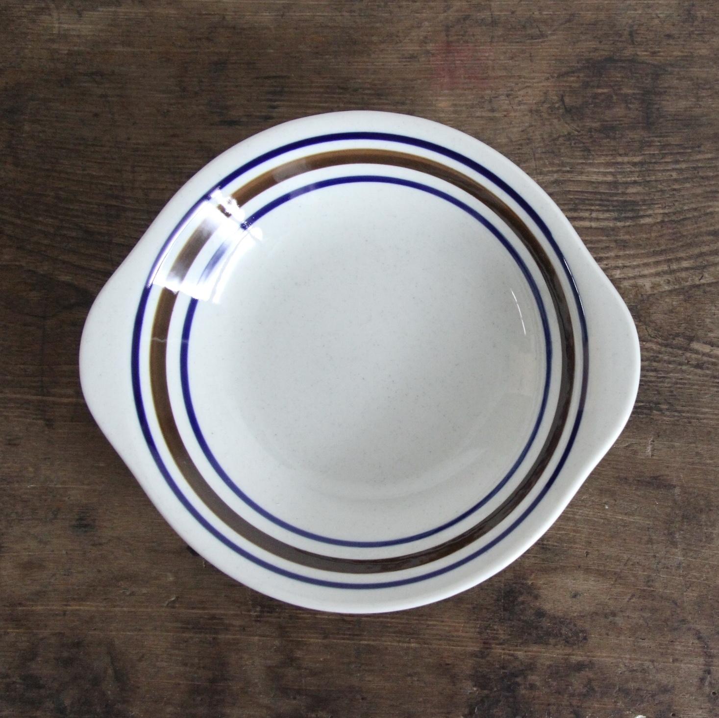 marumi ストライプ スープ皿 在庫3枚