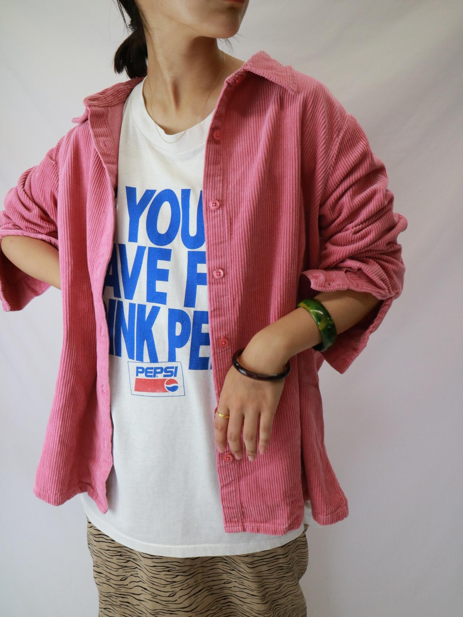 "corduroy shirt ""pink"""