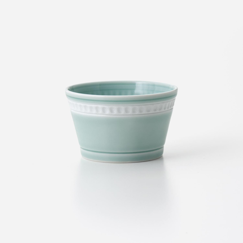 青磁印花 筒型小鉢