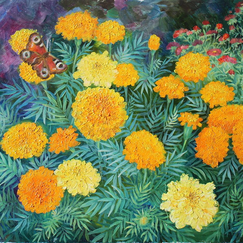 絵画 インテリア アートパネル 雑貨 壁掛け 置物 おしゃれ 油絵 水彩画 鉛筆画 花 自然 風景 ロココロ 画家 : Uliana ( ウリャーナ ) 作品 : u-7