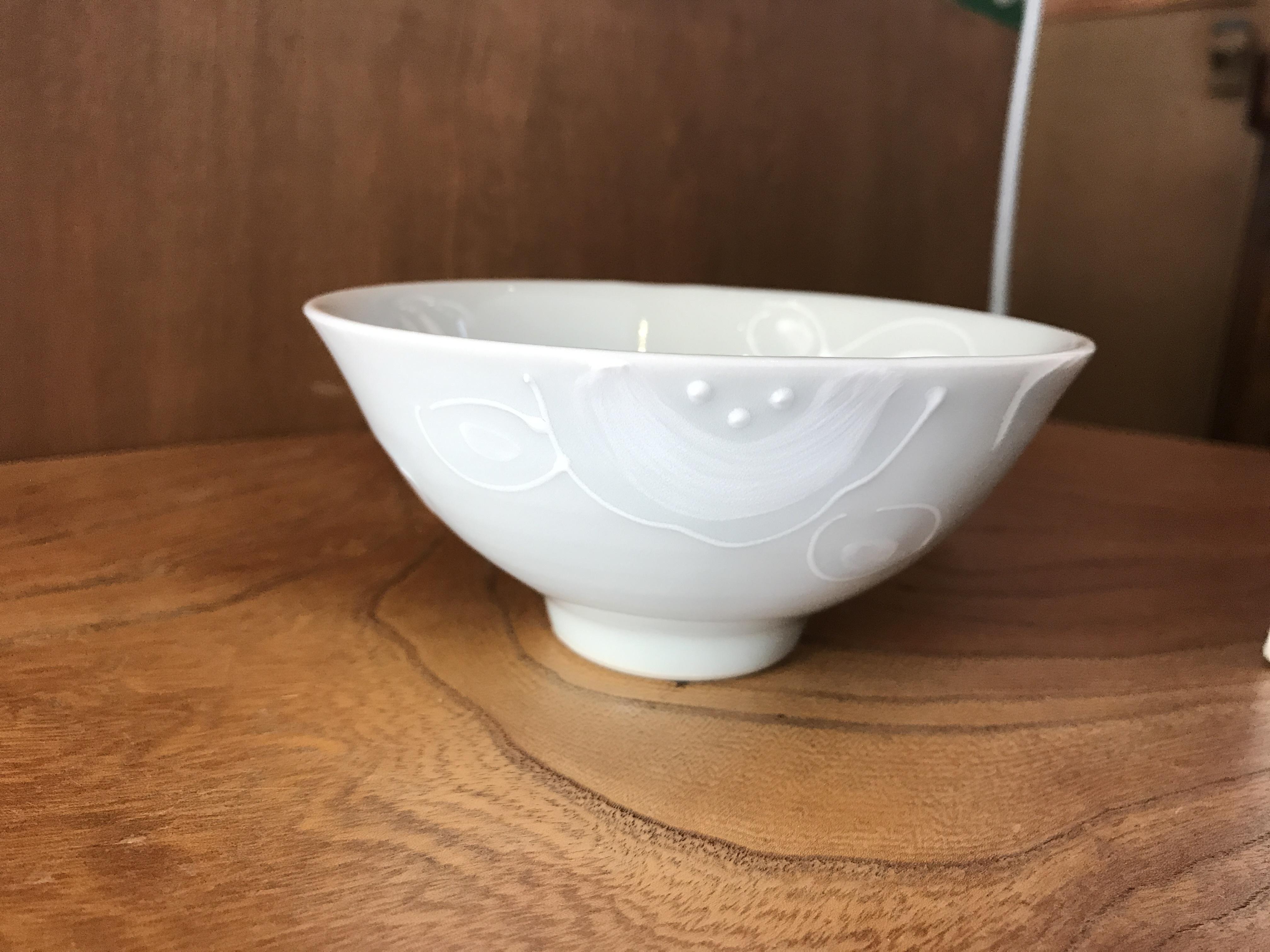 砥部焼  陶彩窯  いっちんの茶碗(小)